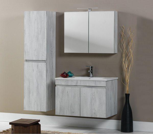 Modeli Omega është i disponueshëm në përmasat 100 cm, 80 cm, 70 cm dhe 60 cm. Është një produkt ku ndërthuret dizajni modern dhe funksionalitetit. Është i ndërtuar me material Melaminë. Lavamani është prej qeramike dhe i një cilësi të lartë. Gjithashtu pajisjet dhe aksesorët janë të cilësisë më të lartë. Ngjyrat e disponueshme janë e bardha, flora dhe albatros.